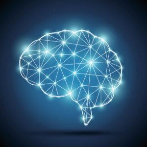 Cerveau traits lumineux.